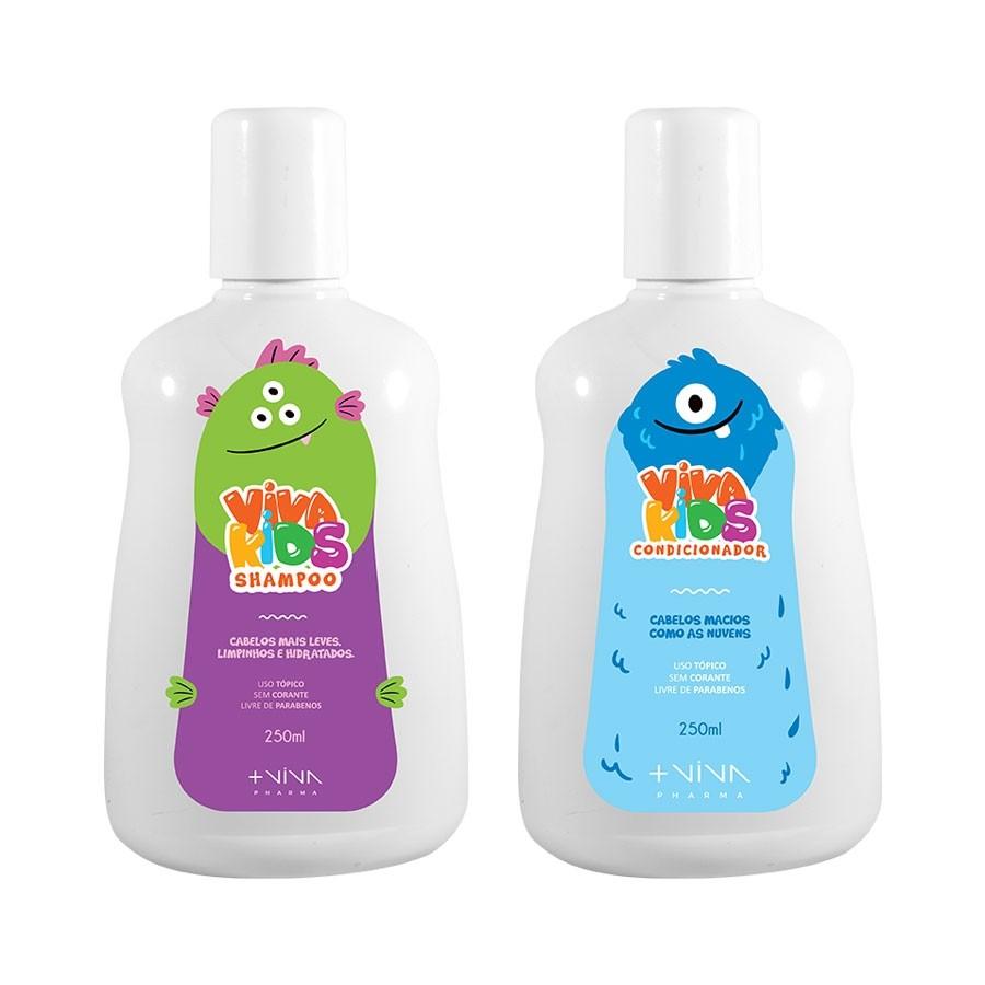 Shampoo Infantil 250ml + Condicionador Infantil 250ml | Linha Viva Kids