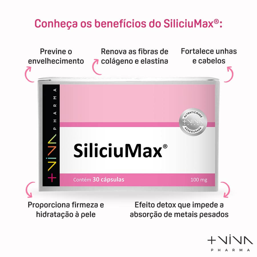 SiliciuMax® 100mg 30 Cápsulas (3 Unidades)