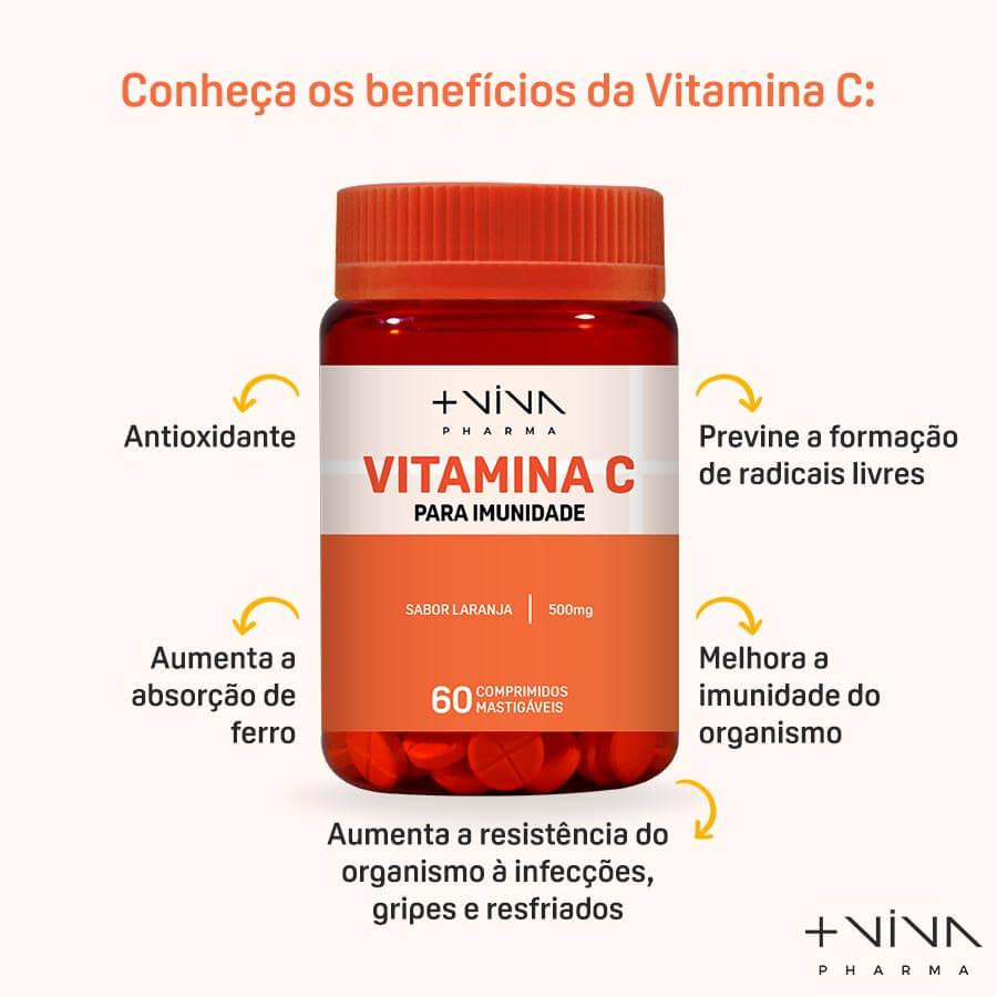 Vitamina C - 60 Comprimidos Mastigáveis