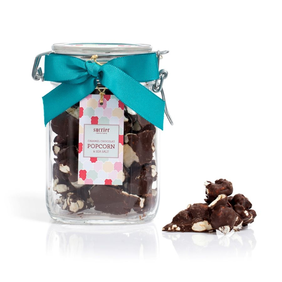 CARAMEL CHOCOLAT POPCORN & SEA SALT AMARGO  JAR 200 G