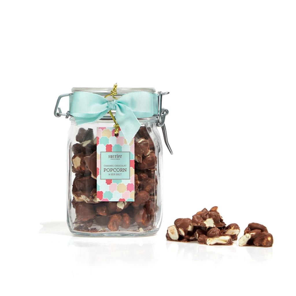 CARAMEL CHOCOLAT POPCORN & SEA SALT AO LEITE JAR 200 G