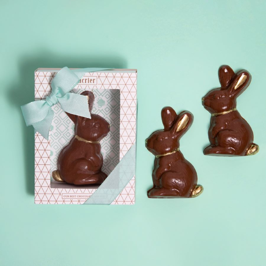 SOLID MILK CHOCOLATE BUNNY