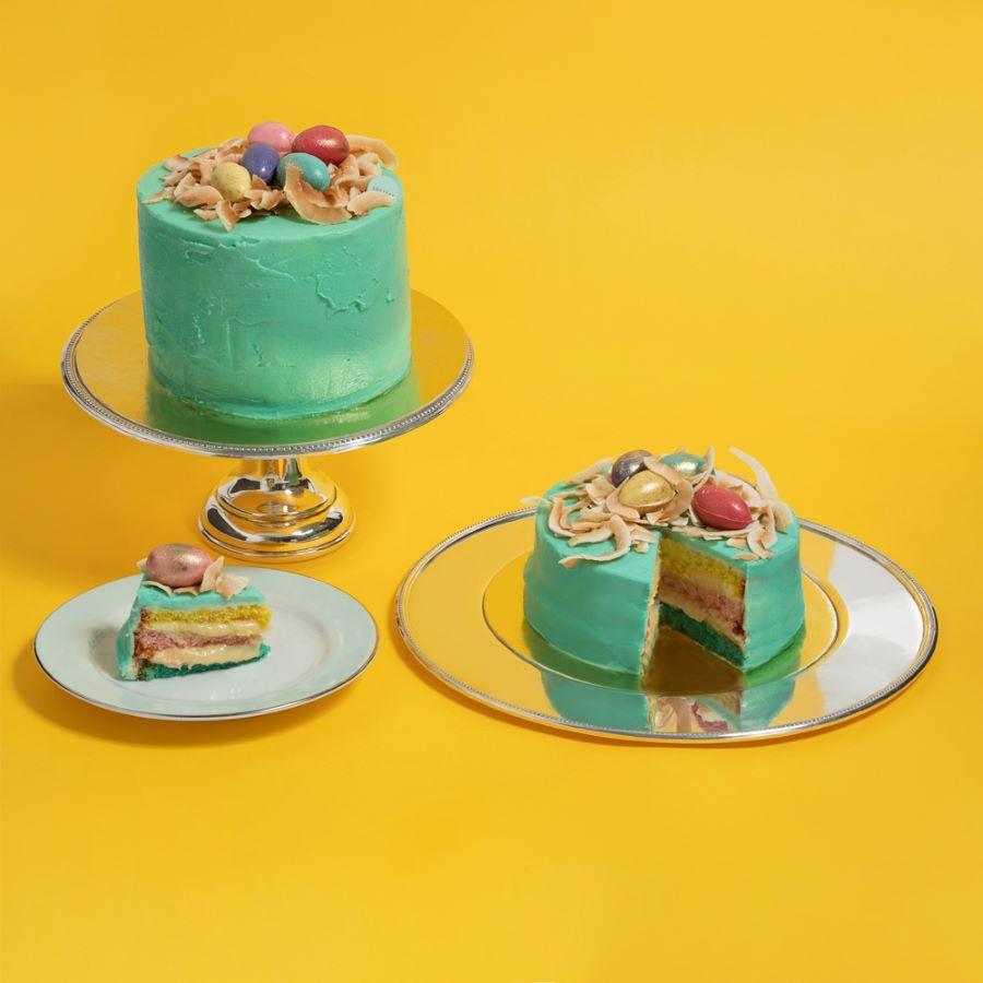 VANILLA RAINBOW EASTER CAKE