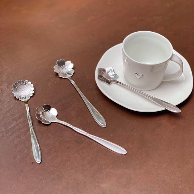Set Colheres Fiore - silver