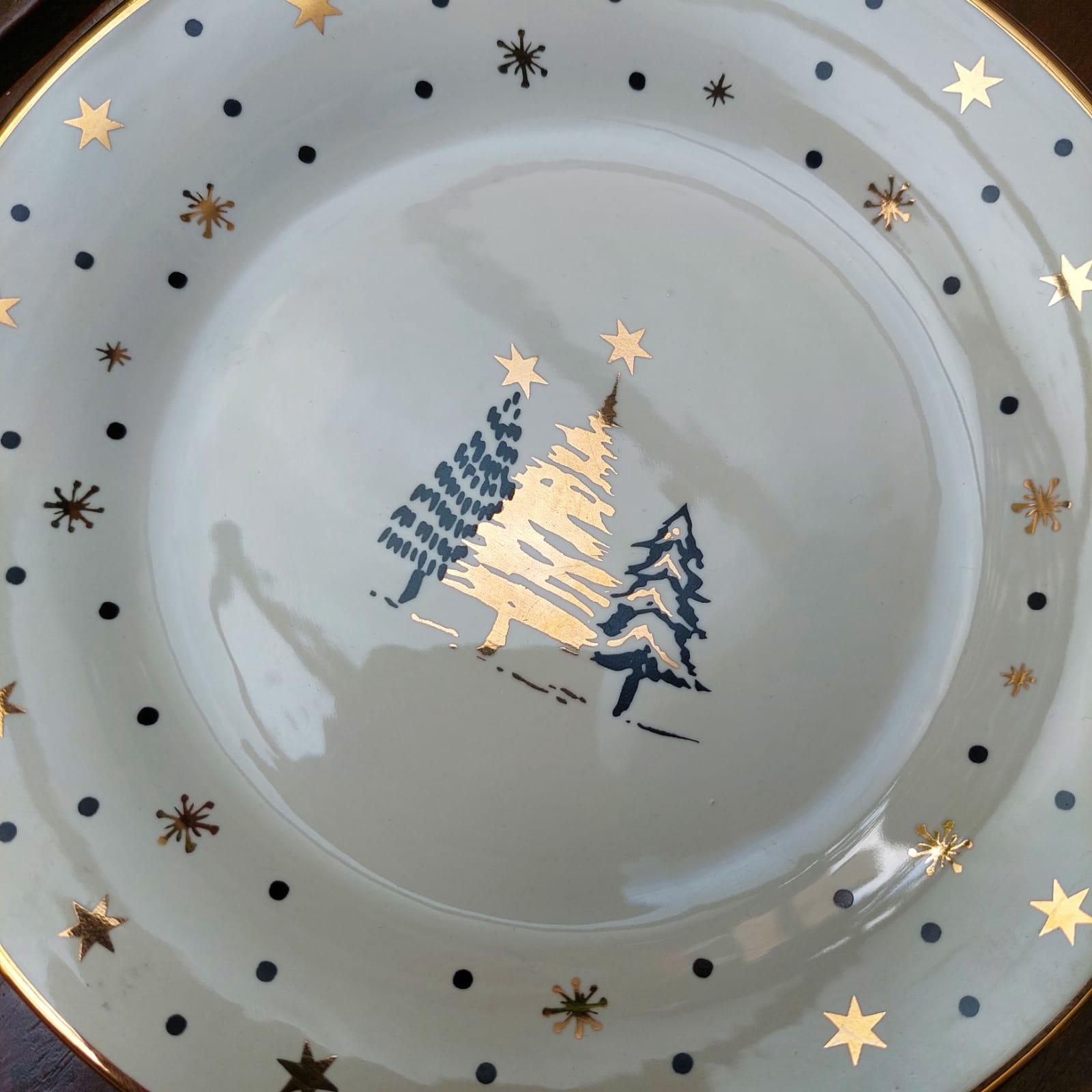 Prato Natal Estrelado
