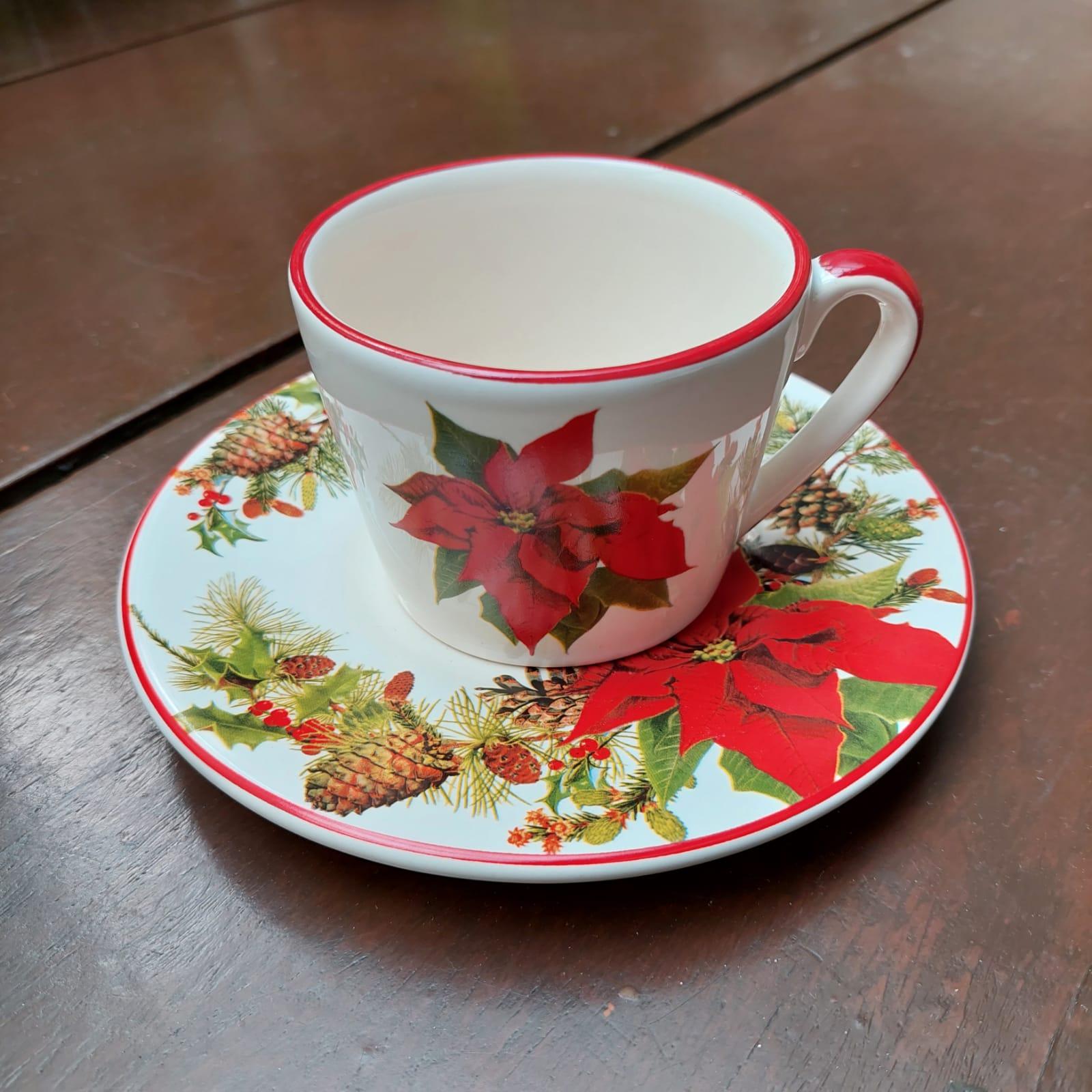 Xícara de Chá Guirlanda