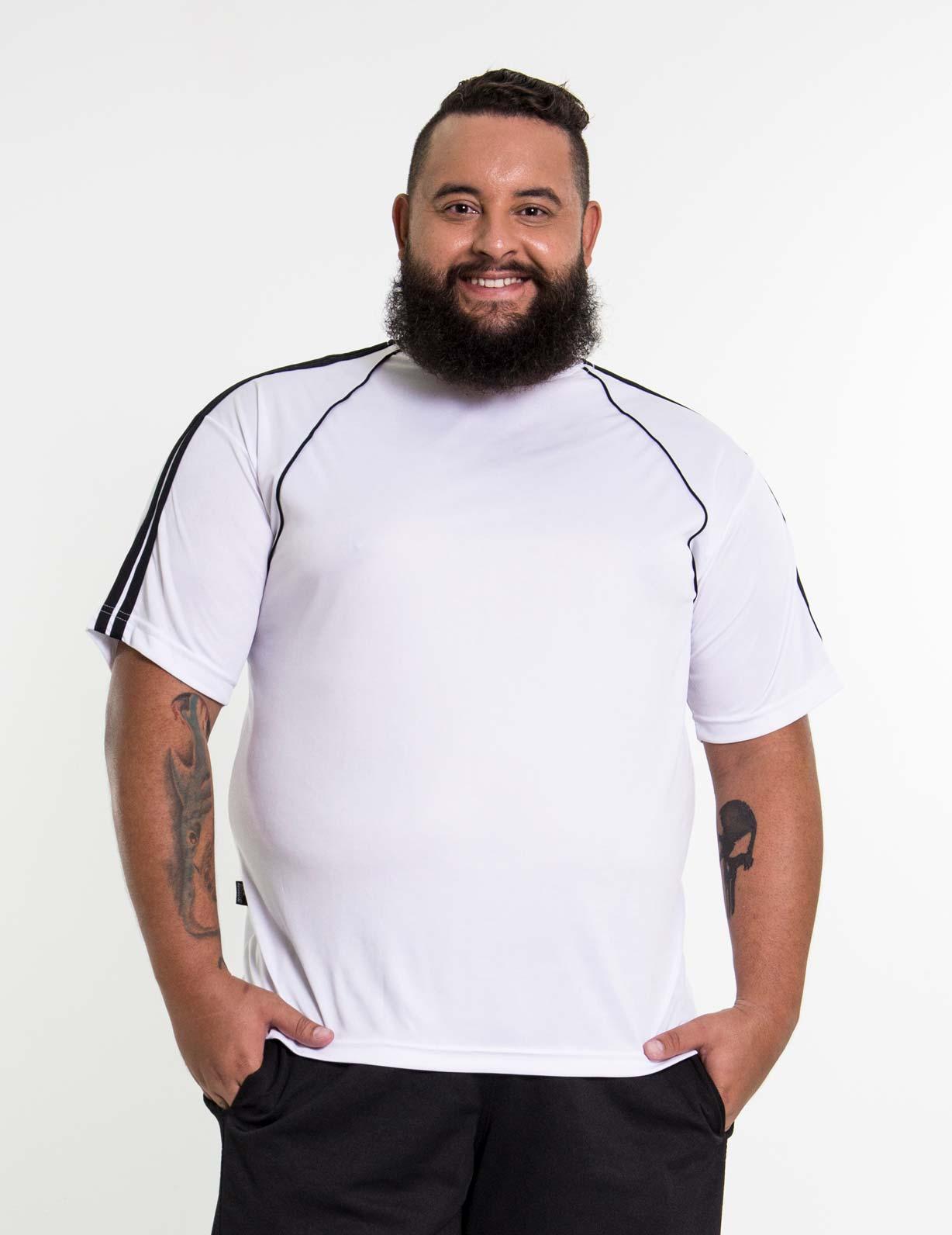 Camiseta Branca Plus Size Masculina - DRY FIT