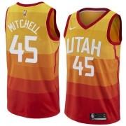 Regata Mitchell Nº 45 Utah Jazz Laranja