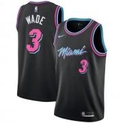 Regata Dwyane Wade Nº 3 Miami Heat Preto