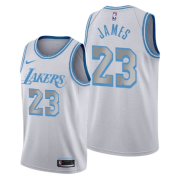 Regata LeBron James Nº 23 Lakers Branco/Azul