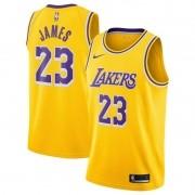 Regata LeBron James Nº 23 Lakers Amarelo