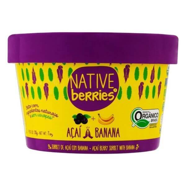 Açai Com Banana Organico 200g - Native Berries