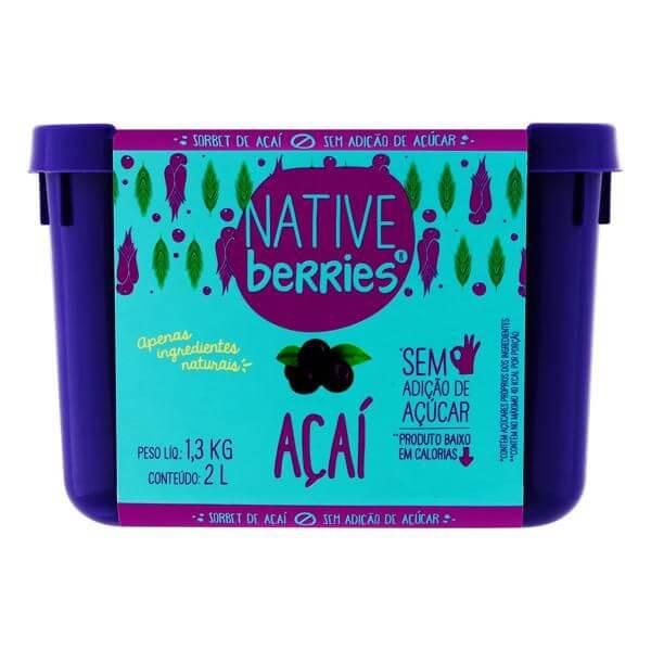 Açai Com Xilitol Organico 2L- Native Berries