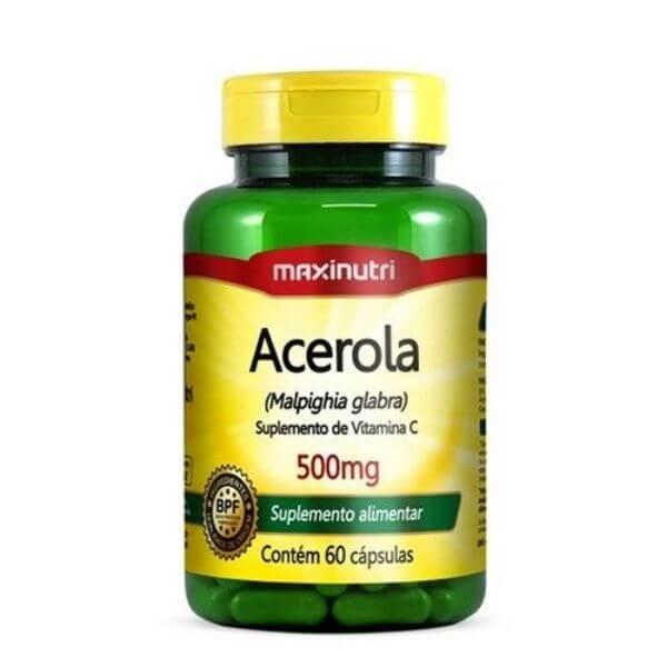 Acerola 60 Cápsulas De 500mg - Maxinutri