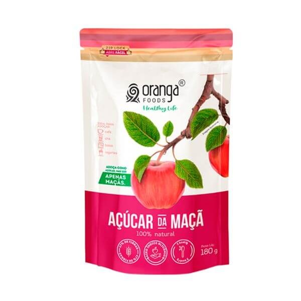 Açúcar de Maçã 180gr - oranga Foods