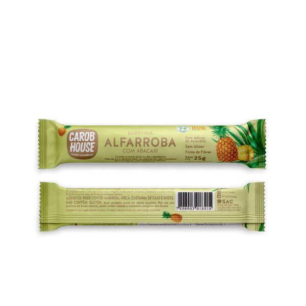 Alfarroba Com Abacaxi Sem Açúcar 25gr - Carob House