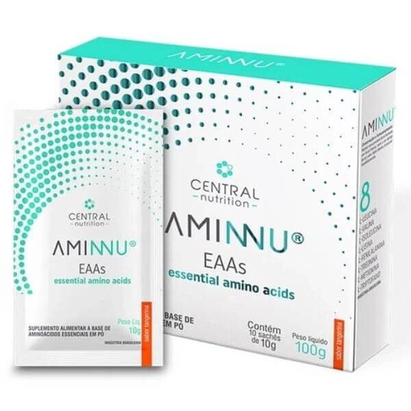 Aminnu Sabor Tangerina 300gr Caixa com 30 Sachês de 10gr - Central Nutrition