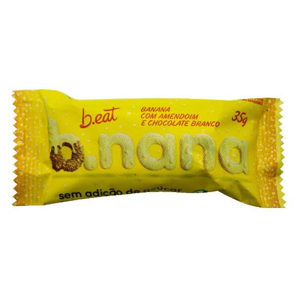 B.nana c/ Amendoim e Chocolate Branco Zero 35g - B.eat