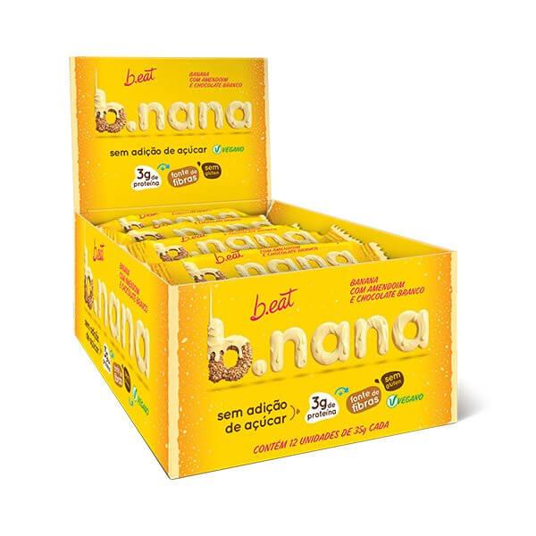 B.nana c/ Amendoim e Chocolate Branco Zero Display 12x35g B.eat