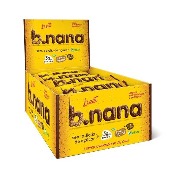 B.nana c/ Amendoim e Chocolate Escuro Zero Display 12x35g B.eat