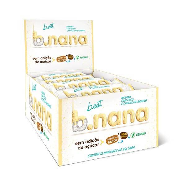 B.nana c/ Coco e Chocolate Branco Zero display 12x35g B.eat