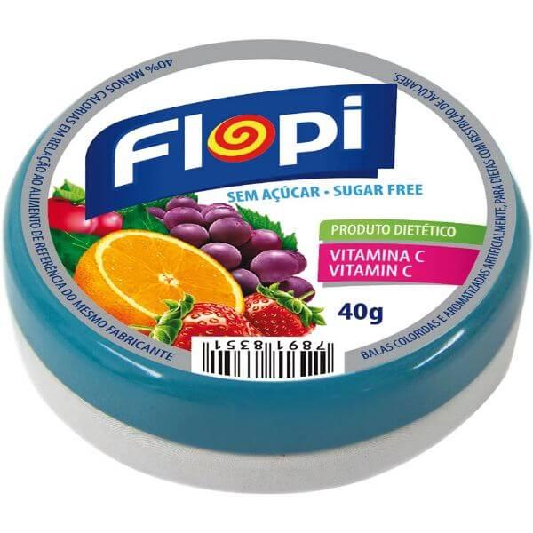 Bala Flopi Sem Açúcar Sortida 40g - Florestal