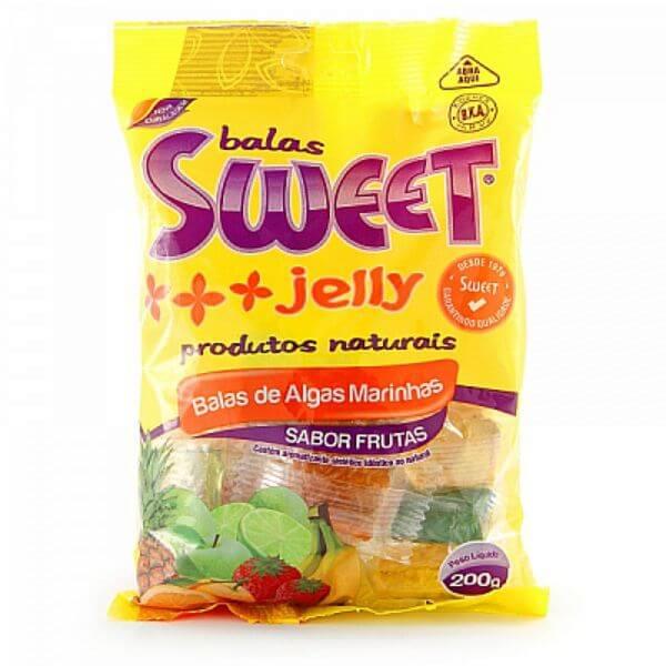 Balas De Algas Marinhas Sabor Frutas 200gr - Sweet Jelly