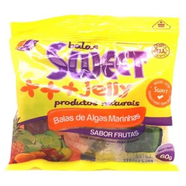 Balas De Algas Marinhas Sabor Frutas 60gr - Sweet Jelly