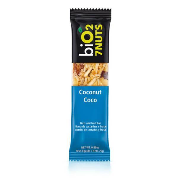 Barra De 7 Nuts Sabor Coco e Castanhas Vegana 25gr - Bio2