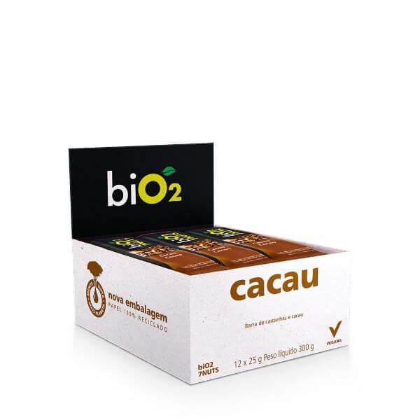 Barra de 7Nuts sabor Cacau e Castanhas  Vegana Display 12x25g BiO2