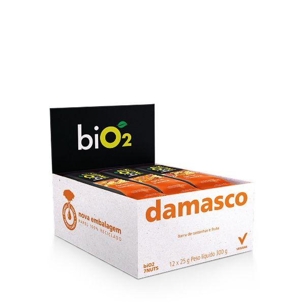Barra de 7Nuts sabor Damasco e Castanhas Vegana Display 12x25g BiO2