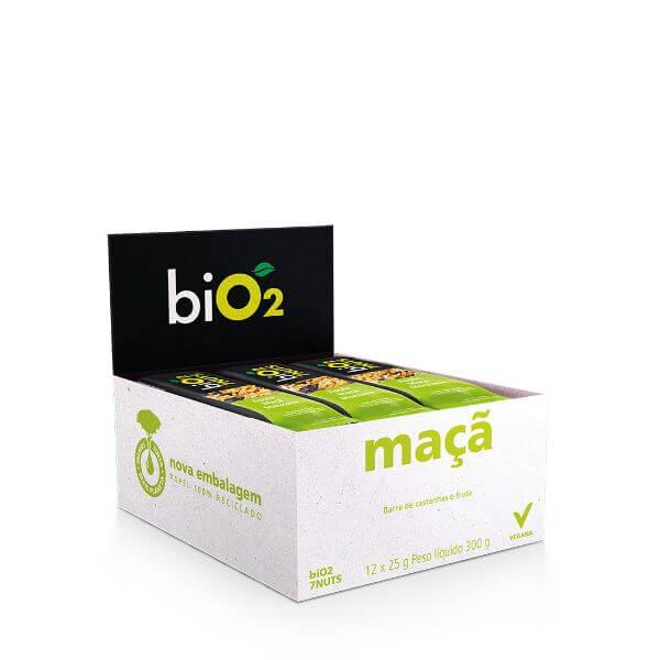 Barra de 7Nuts sabor Maca e Castanhas Vegana Display 12x25g - BiO2