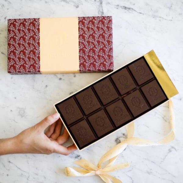 Barra De Chocolate Belga Recheada Com Amendoim  1Kg - Haoma