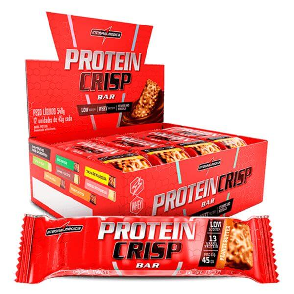 Barra de Proteina Crisp sabor Peanut Butter Display 12x45g Integralmedica