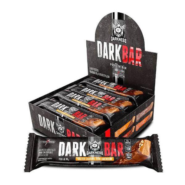 Barra de Proteina Darkness Whey Caramelo Salgado Display 8x90g - Integralmedica