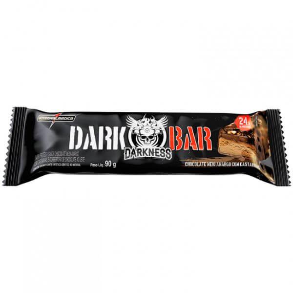 Barra De Proteína Darkness Whey Chocolate amargo Com Castanhas 90gr - Integral Médica
