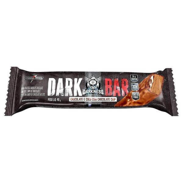 Barra de Proteina Darkness Whey sabor Chocolate c/ Coco 90g - Integralmedica