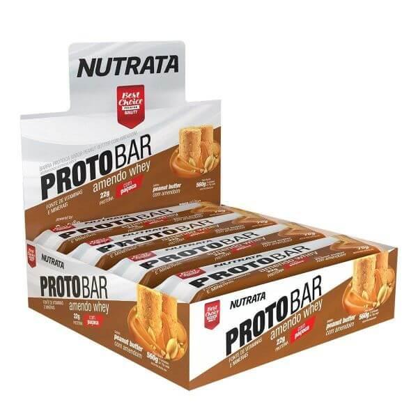 Barra de Proteina Protobar Amendo Whey 8un de70gr - Nutrata