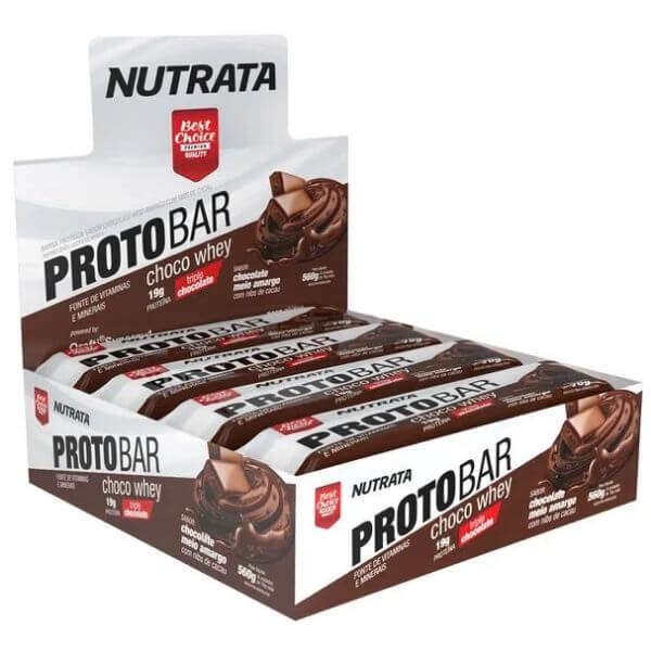 Barra de Proteina Protobar Choco Whey 8un de70gr - Nutrata