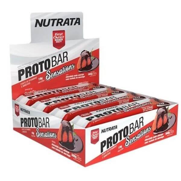 Barra de Proteina Protobar Sensations 8un de70gr - Nutrata