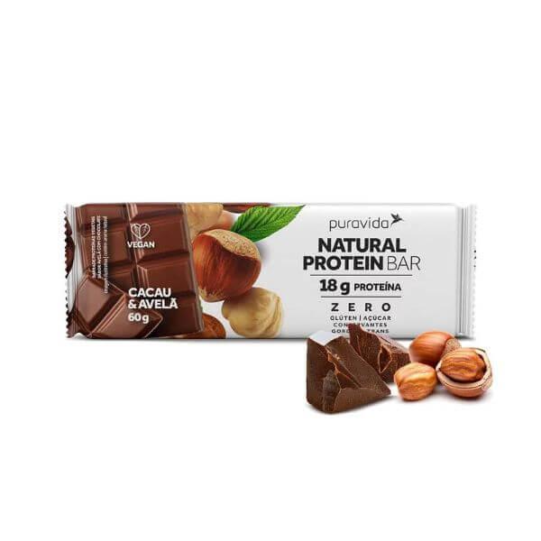 Barra de Proteína sabor Avelã Com Chocolate 60gr - Pura Vida