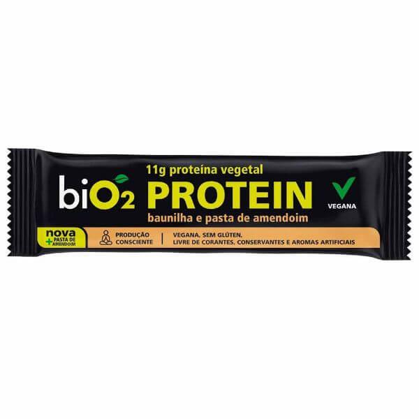 Barra De Proteína Sabor Baunilha E Pasta De Amendoim 45gr - Bio2