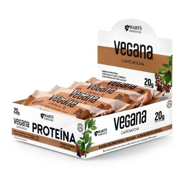 Barra De Proteína Vegana Coffe Mocha Caixa 780gr - Harts Natural