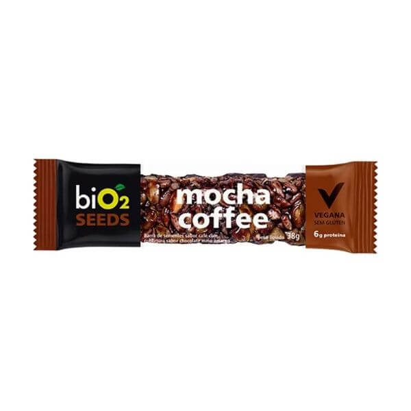 Barra de Sementes sabor Mocha Coffee Vegana 38g - BiO2
