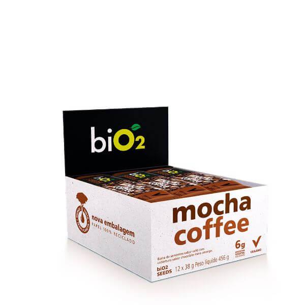 Barra de Sementes sabor Mocha Coffee Vegana Display 12x38g BiO2