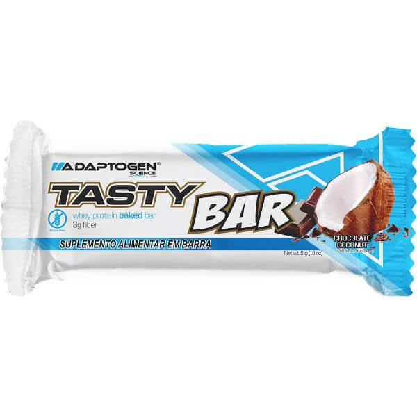 Barra Tasty Bar Chocolate Coconut 51gr - Adaptogen
