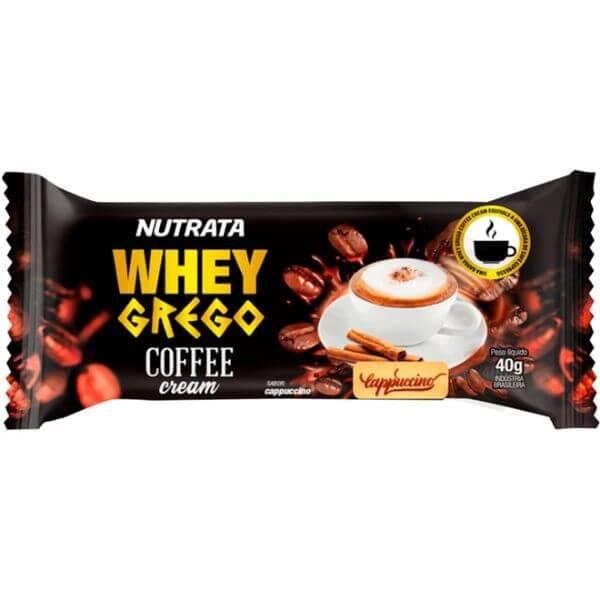 Barra Whey grego Coffe Cream 40gr - Nutratabarra-whey
