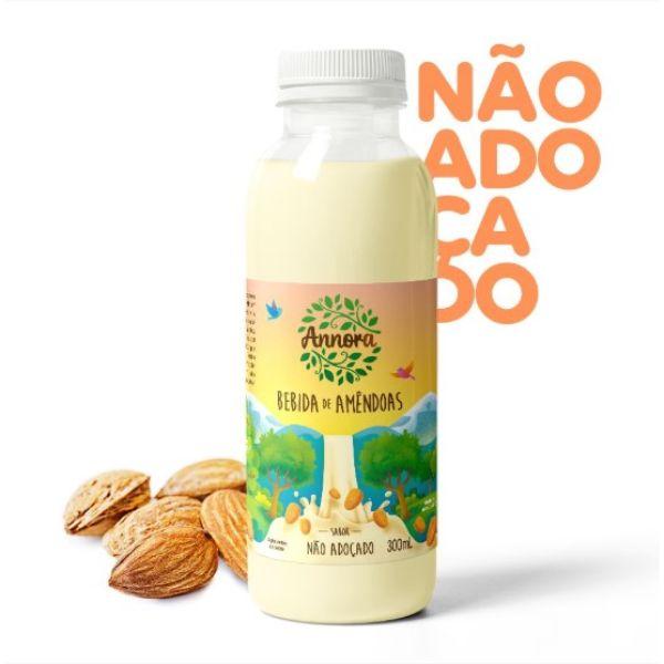 Bebida Vegetal De Amêndoas Não Adoçado 300ml - Annora