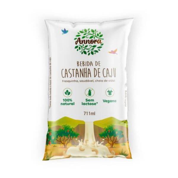 Bebida Vegetal De Castanha de Caju Não Adoçado Pacote 711ml - Annora