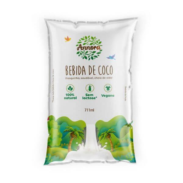Bebida Vegetal De Coco Não Adoçada Pacote 711ml - Annora